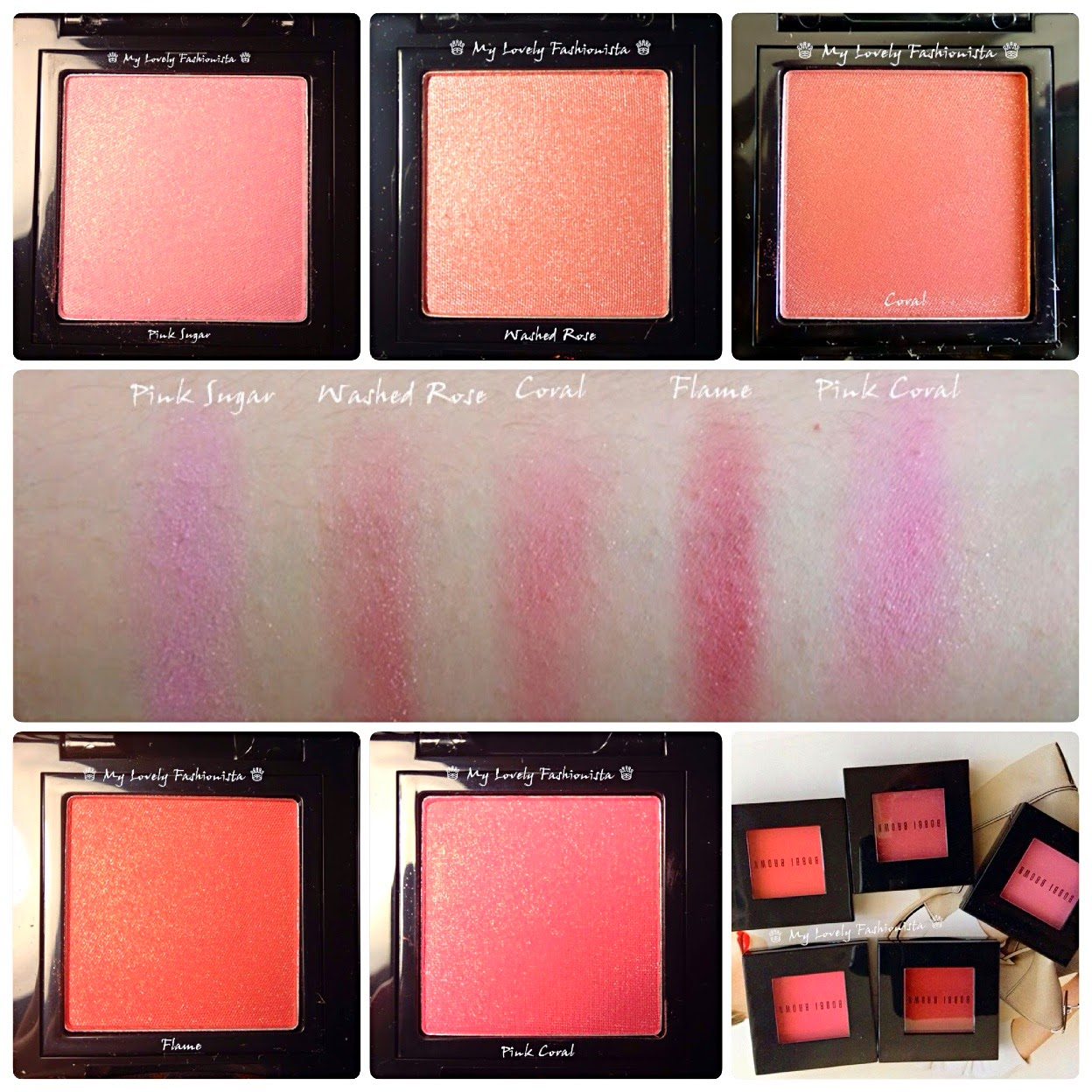 Bobbi Brown Shimmer Blushes - #1 Pink Sugar and #2 Washed Rose ...