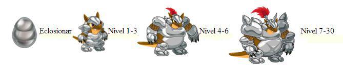 imagen del crecimiento del dragon armadillo