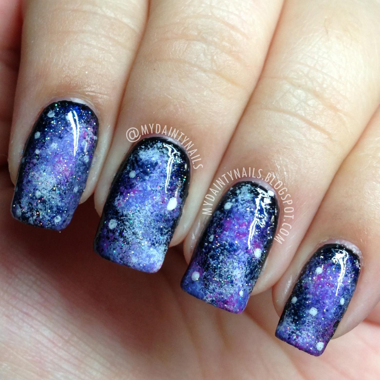 Galaxy Nail Polish Design: My Dainty Nails: Galaxy Nails