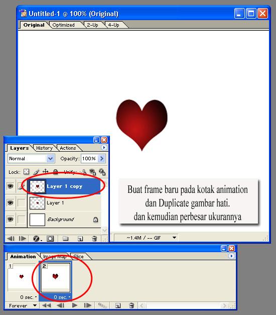 tutorial photoshop - membuat animasi hati bergerak