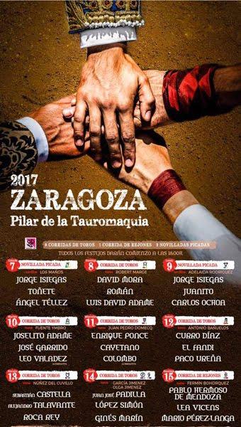 CARTEL:ZARAGOZA (ESPAÑA) DEL 07 AL 15 OCTUBRE 2017. LA FERIA DEL PILAR.