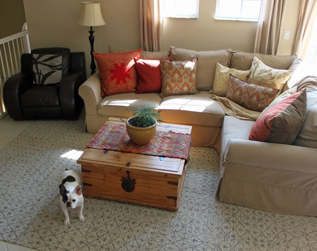 Family Room Rug Makeover with FLOR Carpet Squares