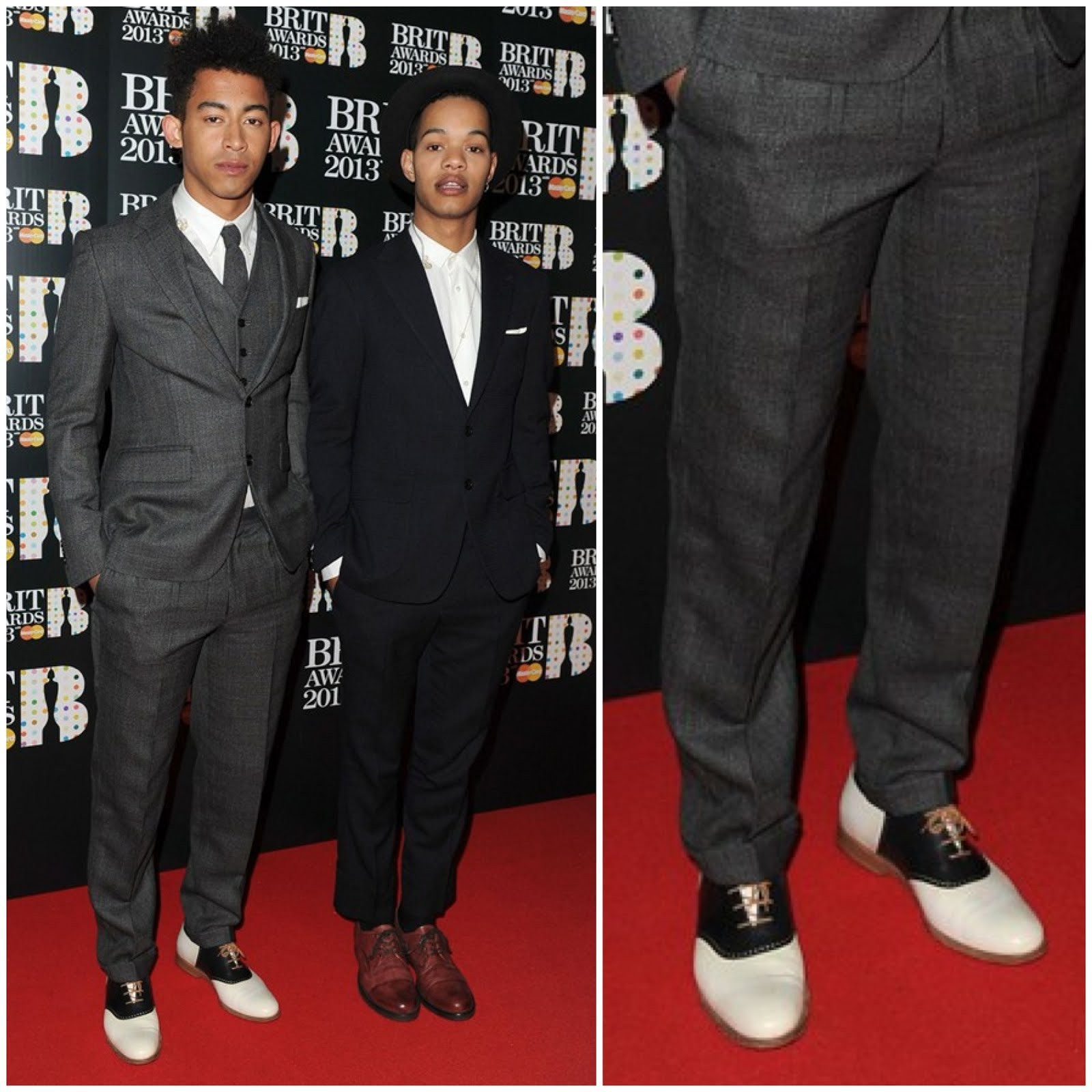 00O00 Menswear Blog Rizzle Kicks in Mr Hare Jerry Lees - Brit Awards 2013 #Brits2013