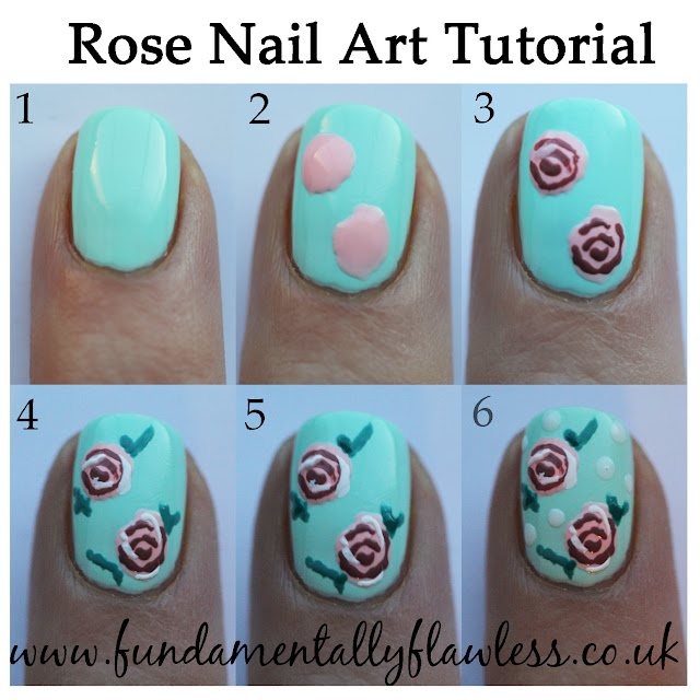 Fundamentally Flawless: Rose Nail Art Tutorial