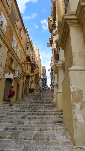 A street in Valletta, walled city