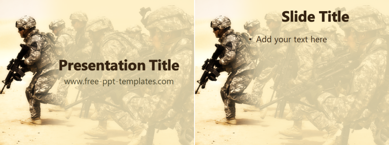free powerpoint templates military ppt template