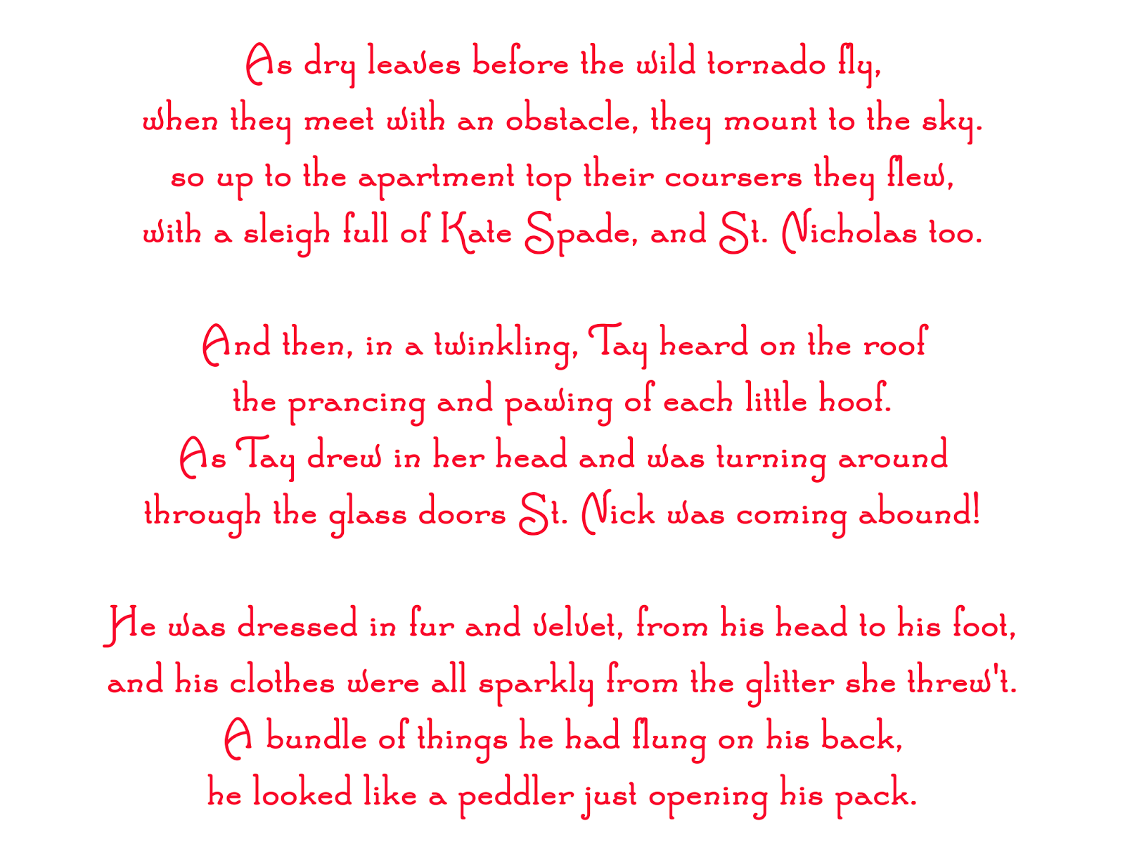 read the original poem here - Twas The Night Before Christmas Funny