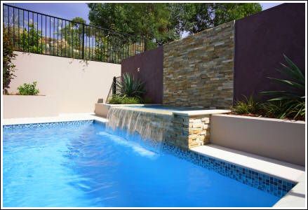 Austech external building products craftstone used for - How to build a swimming pool waterfall ...