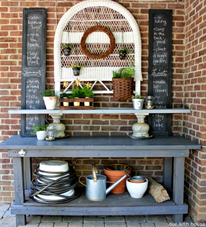 Our Fifth House Potting Bench Outdoor Buffet And