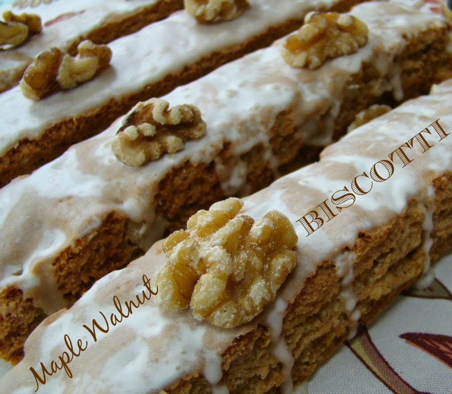 Maple Walnut Biscotti Recipe — Dishmaps
