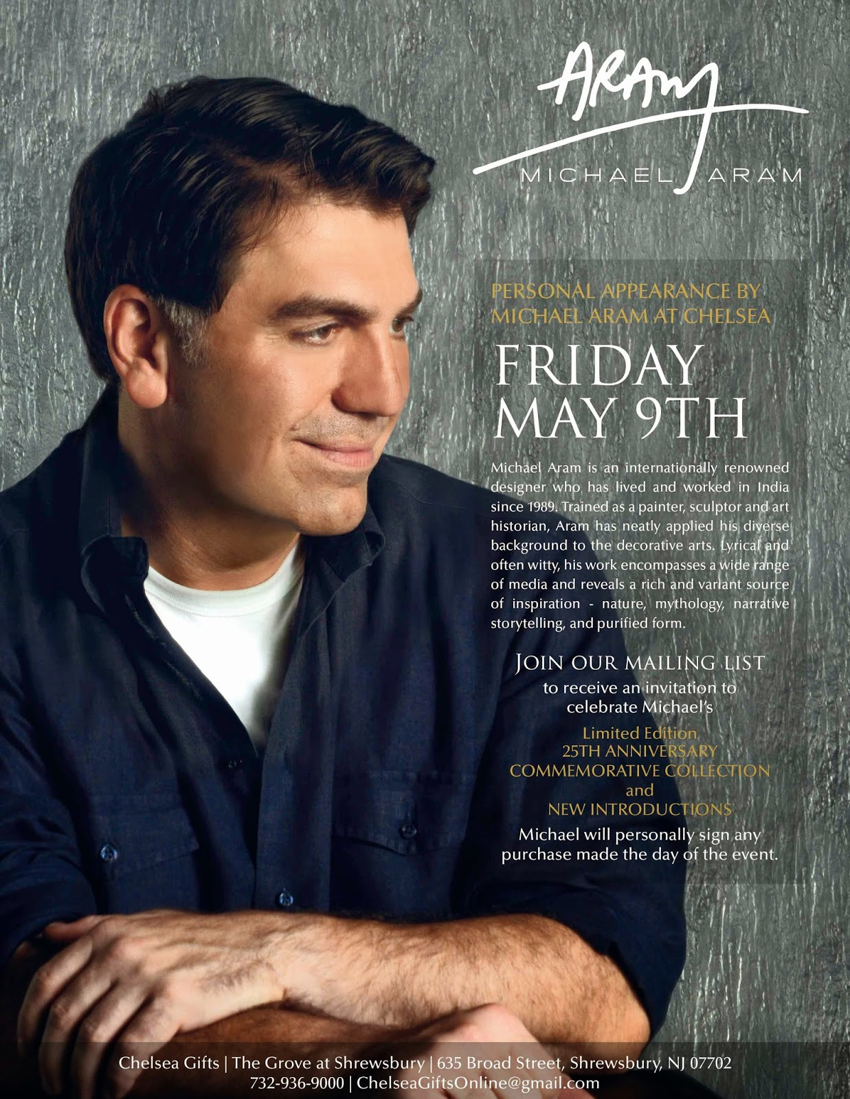 Michael Aram 25th Anniversary Poster