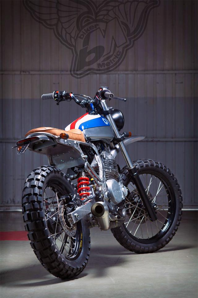 honda nx650 scrambler - rear | kiddo motors