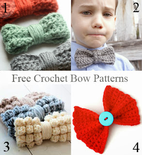 Free Crochet Patterns Directory : Lets Play Crochet!: Free Crochet Bow Patterns