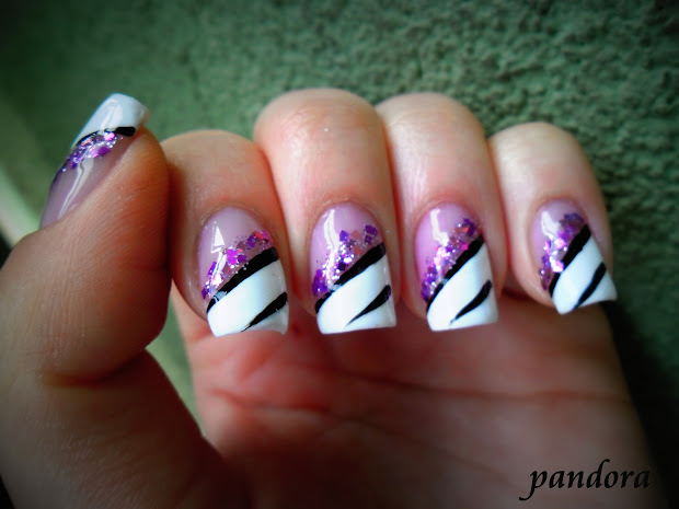pandora nails purple nail art