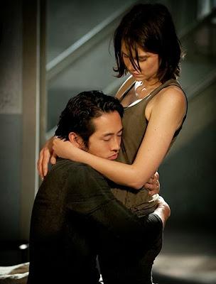 Maggie y Glenn The Walking Dead