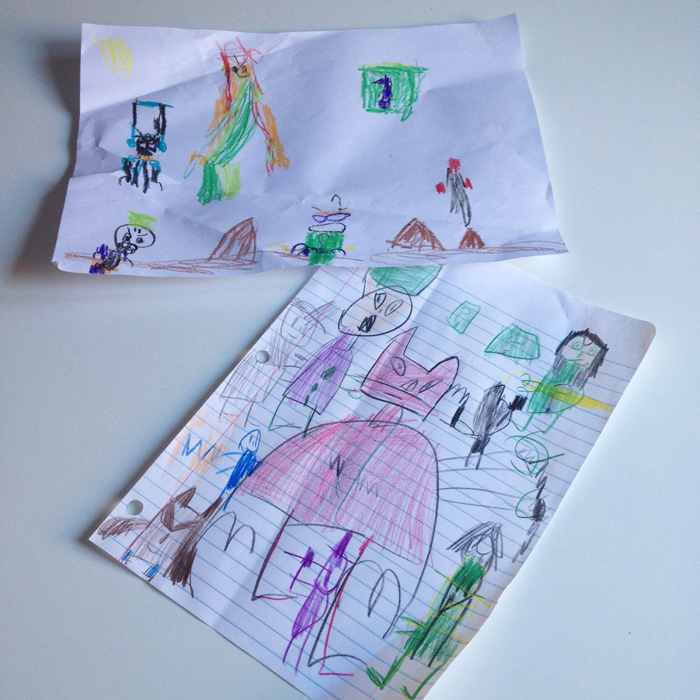 Snail mail between friends, aged 5 | Poppy Sparkles Blog #snailmail #superhero #drawing