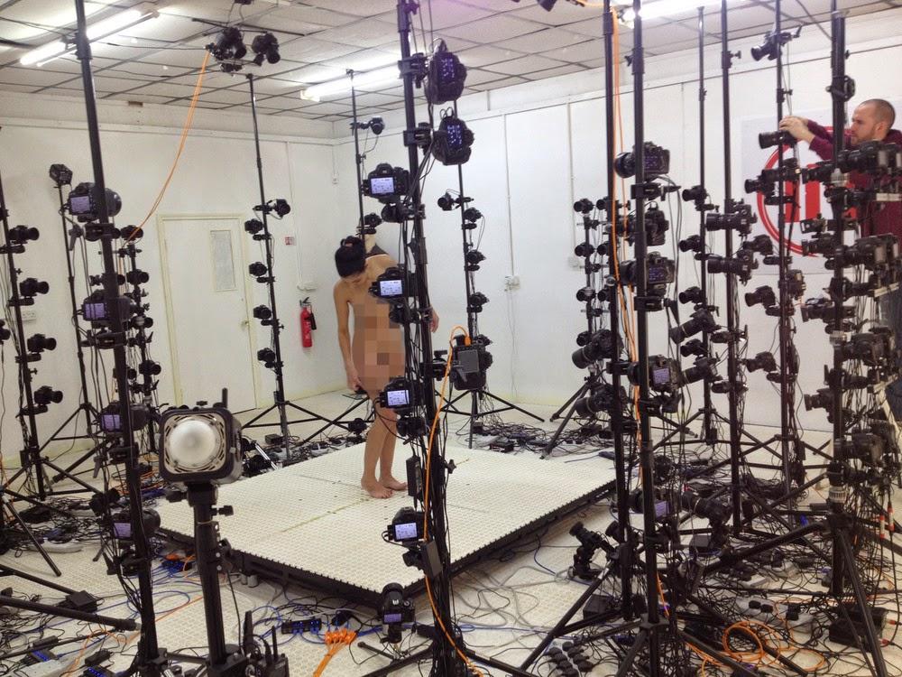 capturando a modelo escultura nanometrica jonty hurwitz