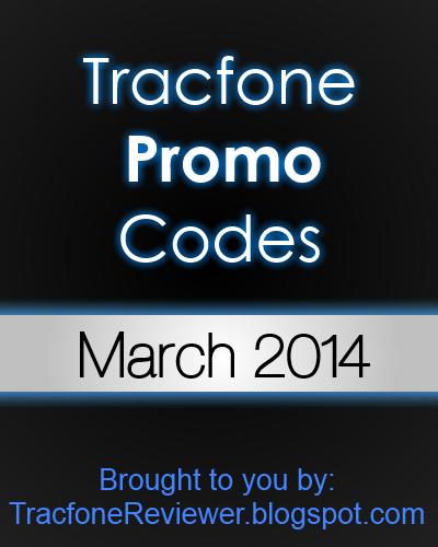 tracfone promo codes march 2014