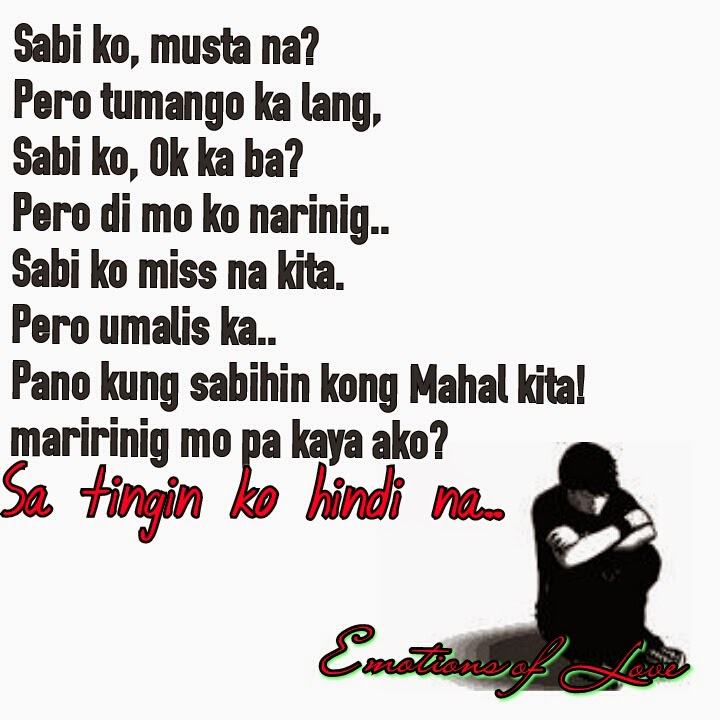 emotions of love tagalog image quotes