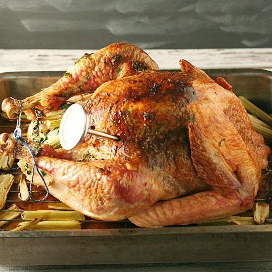 Flavor Injected Herb Roasted Turkey | by Yours and Mine are Ours