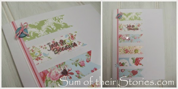 floral handmade birthday card idea