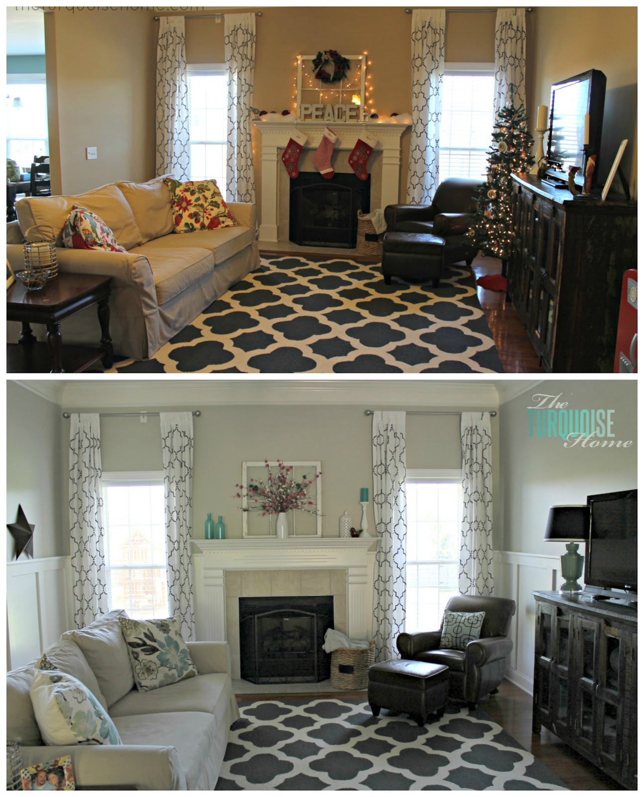 living room makeover - part 7: final reveal | the turquoise home