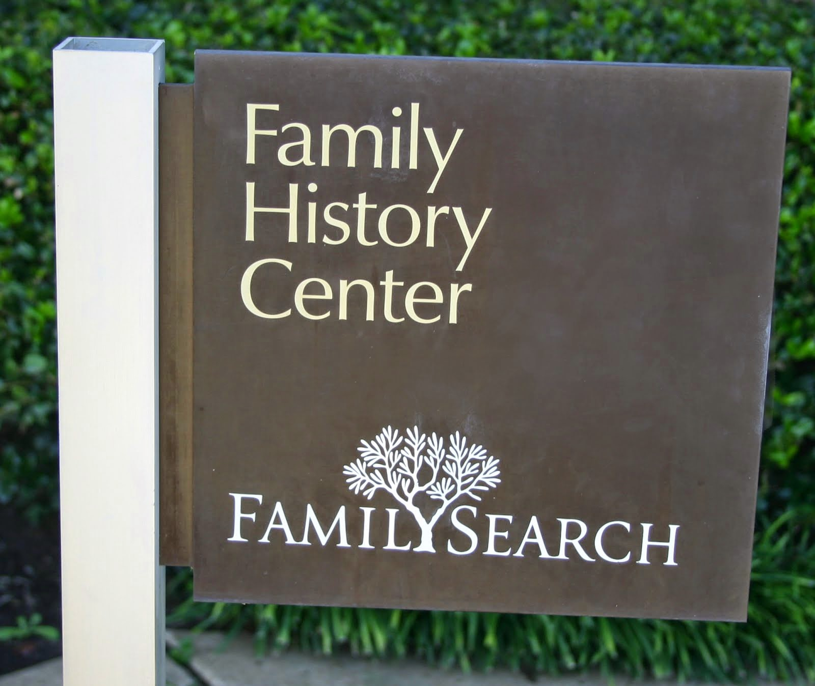 Family History Center is located on the back side of the building