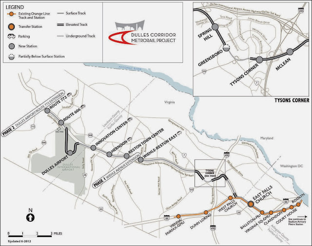 Dulles Virginia Corridor Metrorail Station Map