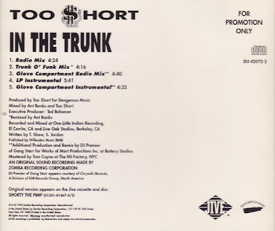 Too $hort – In The Trunk (Promo CDS) (1992) (320 kbps)
