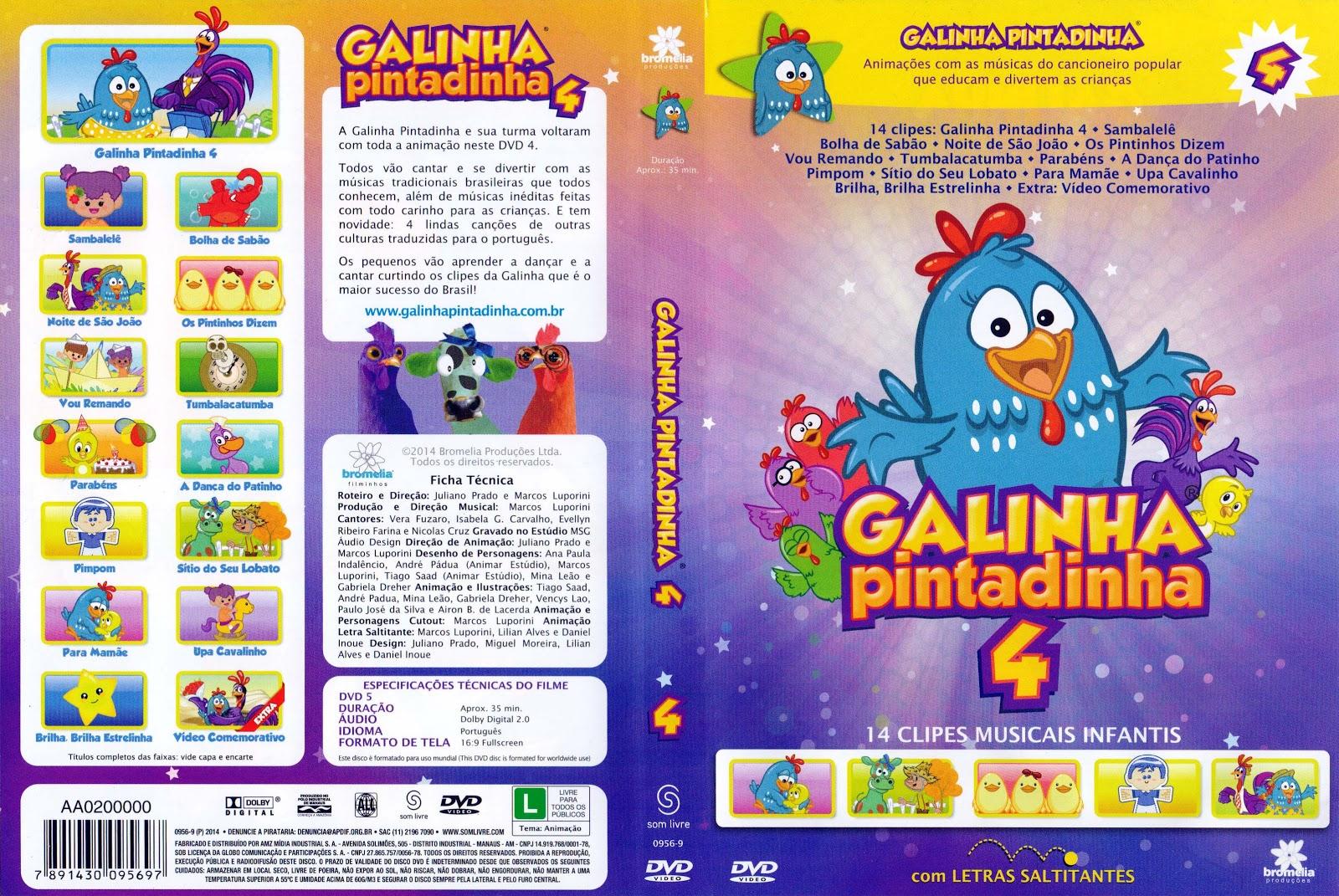 Capa DVD Galinha Pintadinha 4
