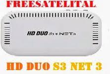 Atualizacao do receptor freesatelital HD Duo S3 +NET3 V