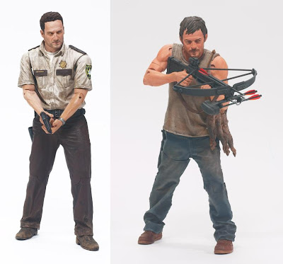 The Walking Dead Television Series 1 - Deputy Rick Grimes &amp; Daryl Dixon Action Figures