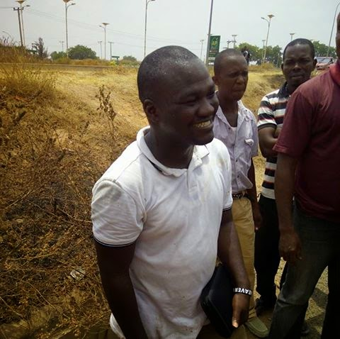 Accident along Dei Dei police Barack in Abuja B