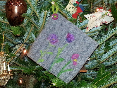 recycled felted sweater potholder
