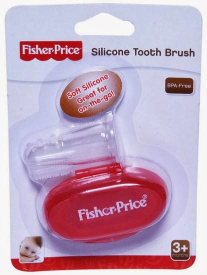 fisher price finger brush red