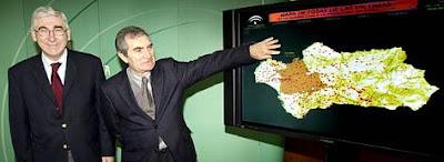 Localización de las fosas en Andalucía