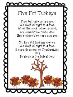 The Very Busy Classroom: Five Fat Turkeys