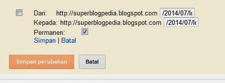 pengalihan khusus blogger