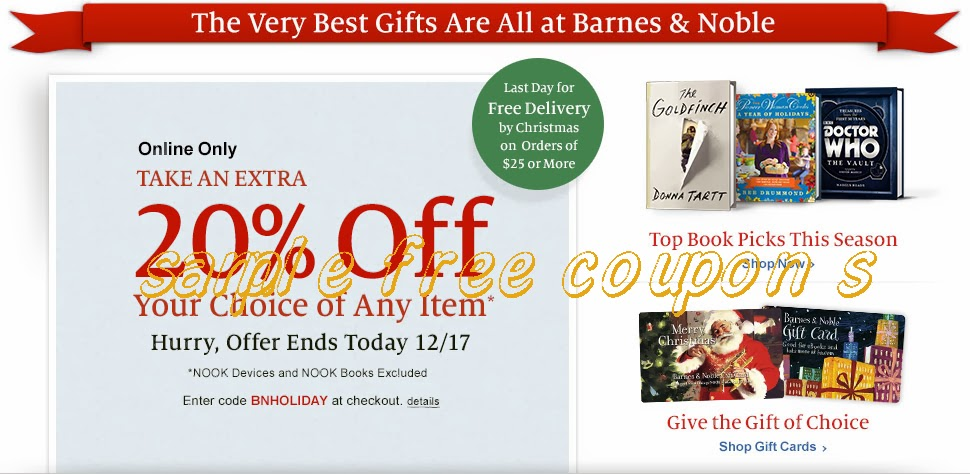 Barnes and noble store discount coupons