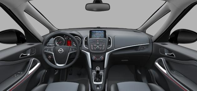 Opel zafira tourer 2012 pricing and photos car for Interior zafira tourer