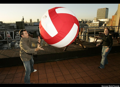 Most Passes of a Giant Volleyball