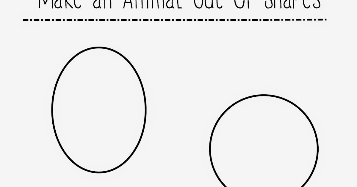 how to make animals out of shapes