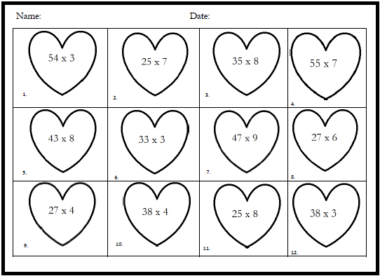 math worksheet : february math worksheets  educational math activities : Four Grade Math Worksheets