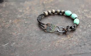 turquoise shaman rockpainting bracelet