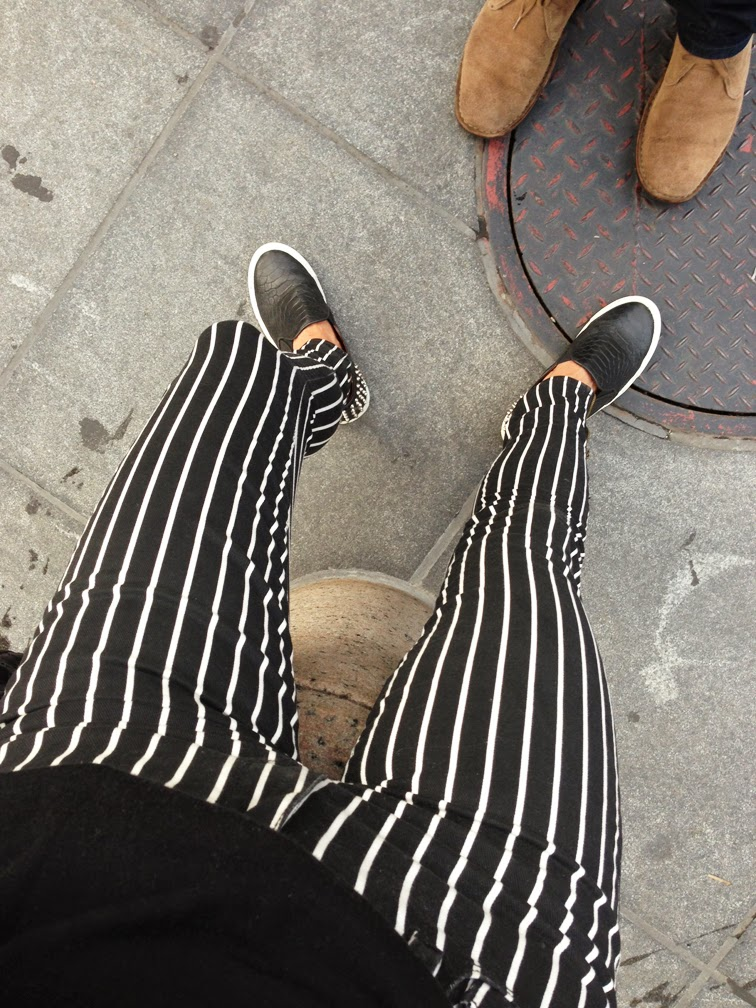 Beetlejuice striped pants