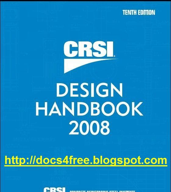 Crsi Design Handbook Th Edition Free