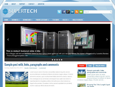 SuperTech Blogger Template