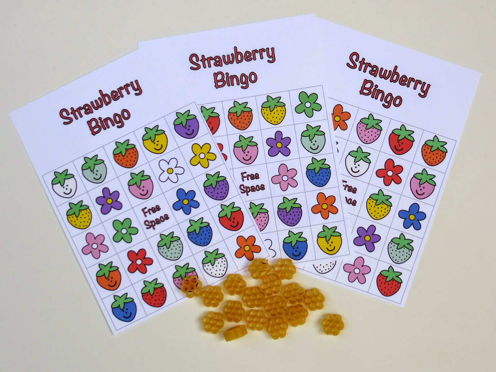 Strawberry Bingo Game