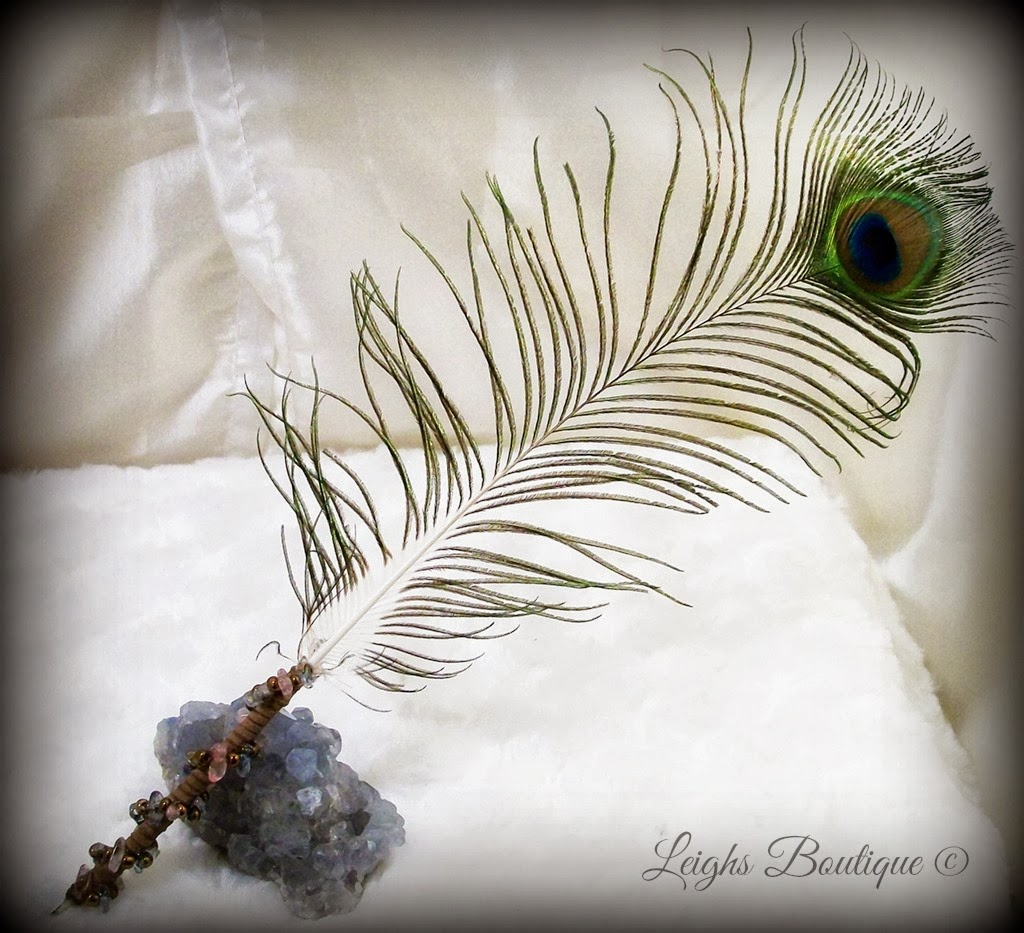 Leighs boutique handcrafted metaphysical gifts and vintage porcupine quill gemstone peacock feather dip pen spell writing tool biocorpaavc Gallery