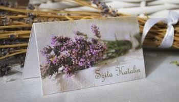 Levendulás ültetőkártya